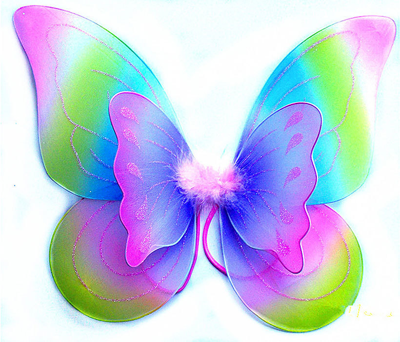 Wearable butterfly wings for kids wearable fairy wings for children floral wings fabric wings halloween costume wings floral fairy