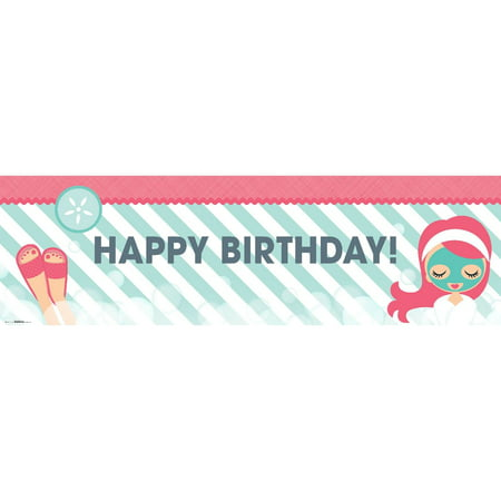Little Spa Party Birthday Banner, Standard