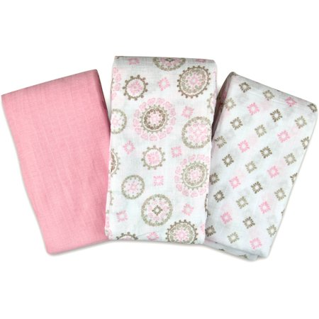 Walmart Swaddle Blankets Mesmerizing SwaddleMe Muslin Swaddle Blankets 60Pack Floral Medallion