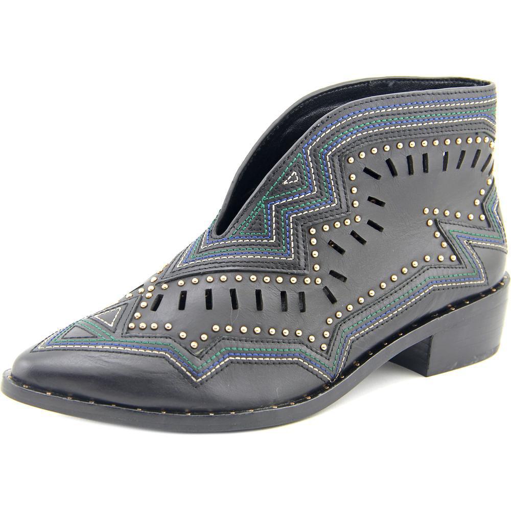 Ivy Kirzhner santa cruz Women  Pointed Toe Leather Black Ankle Boot