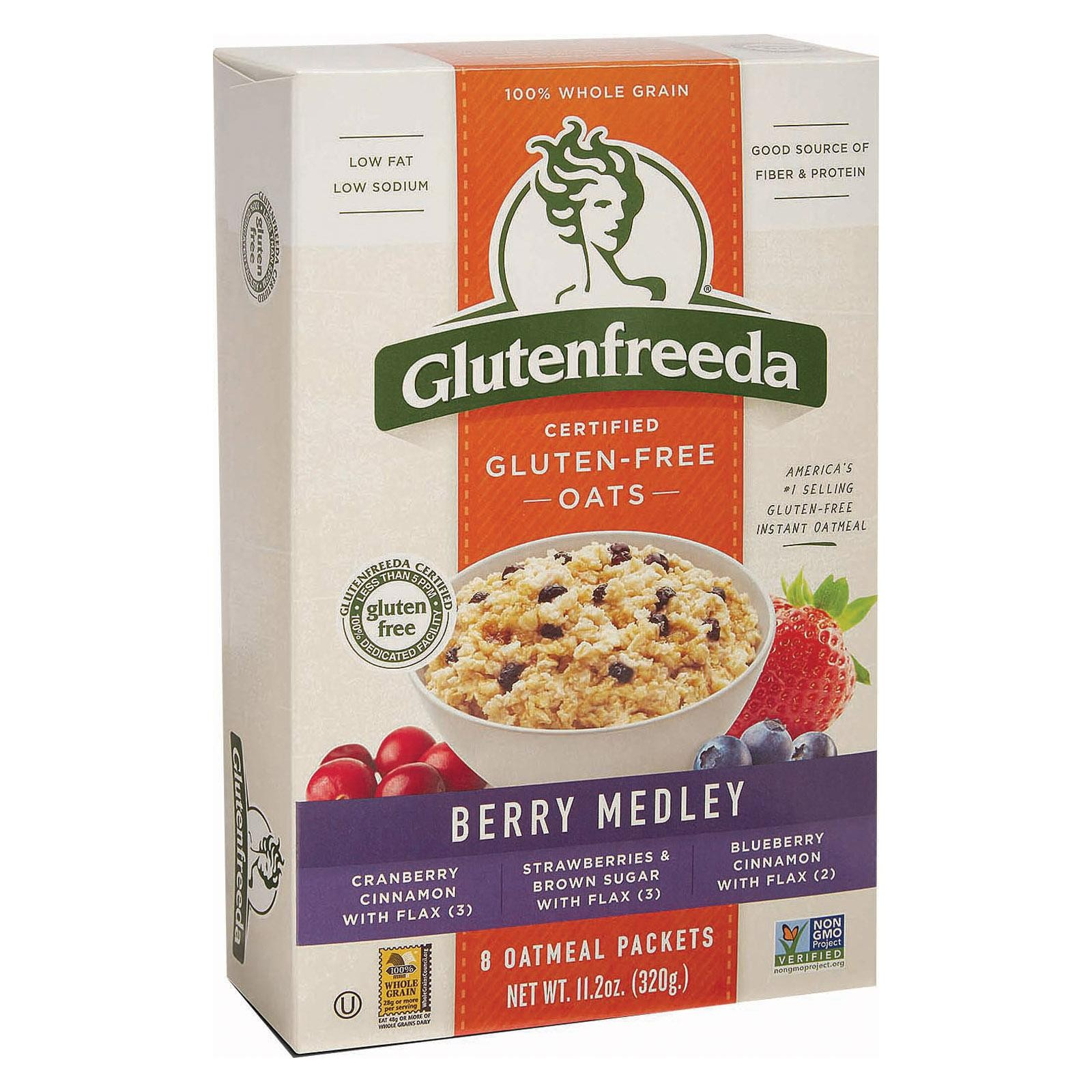 Gluten Freeda Instant Oatmeal Cup - Brown Sugar And Flax - pack of 8 - 11.2 Oz.