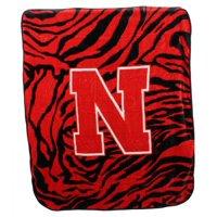 Nebraska Huskers Raschel Throw Blanket
