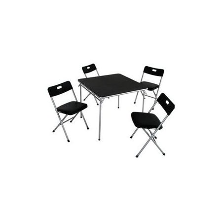 Image of Cosco 5pc Card Table Set In Black