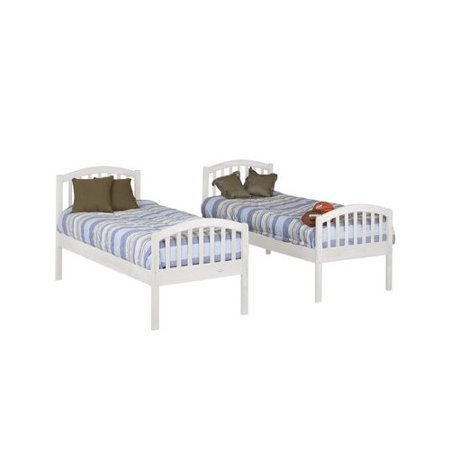 Orbelle Trading Classic Twin Over Twin Bunk Bed Walmart Com