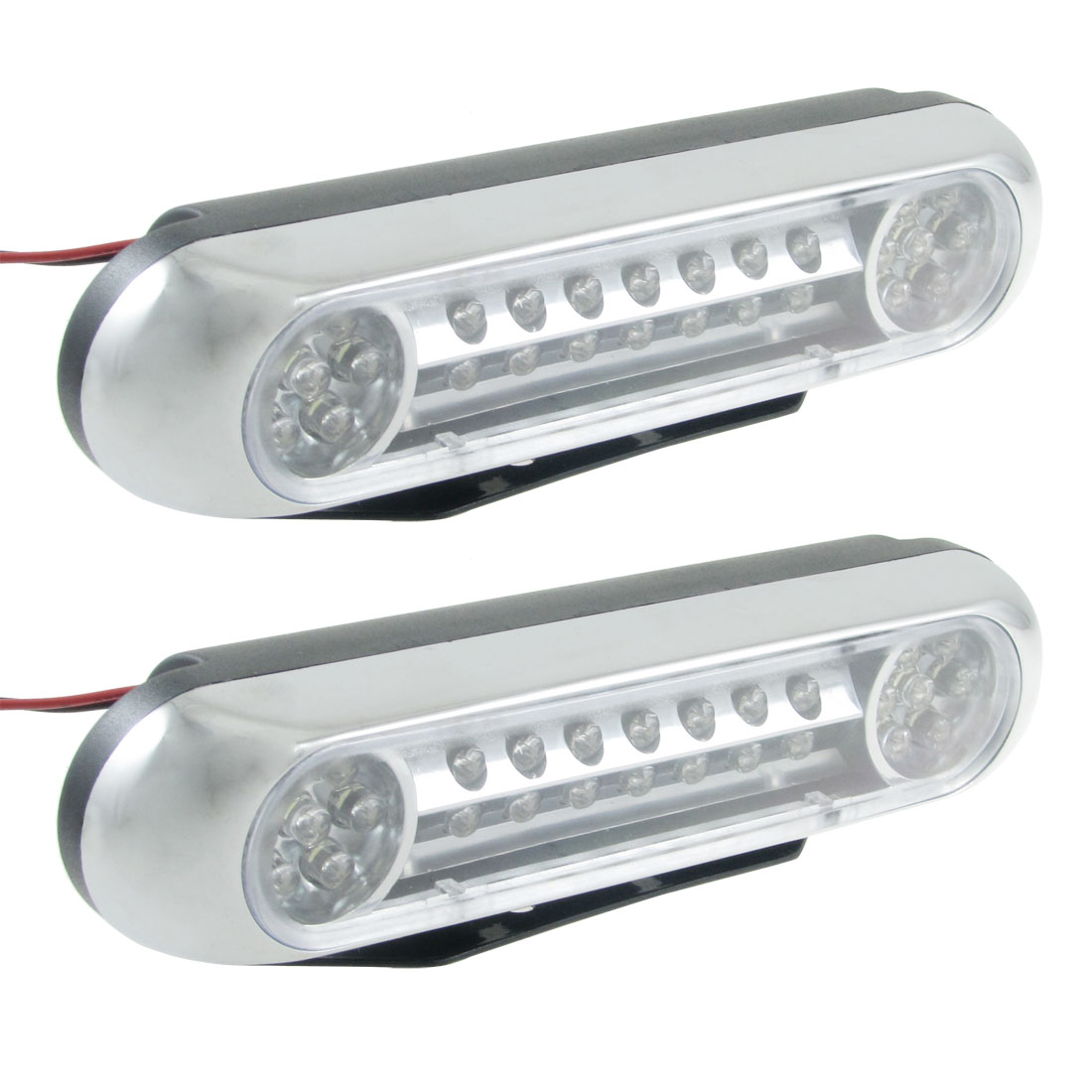 2 Pcs Car Auto White 28  Fog Day Daytime Running Light Lamp DC 12V
