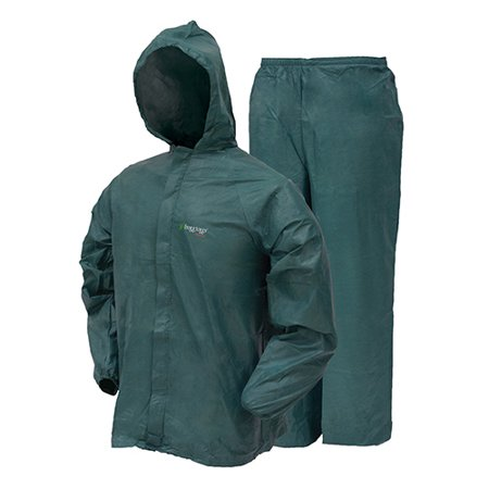 Frogg Toggs Ultra-Lite2 Rain Suit w/Stuff Sack LG-Grn SKU: UL12104-09LG with Elite Tactical Cloth - Frogg Toggs Elite