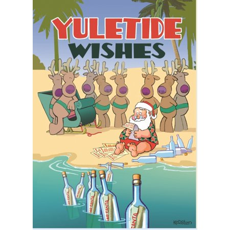 Yuletide Wishes Santa Checking Naughty or Nice List in a Bottle 18 Boxed Cards (Naughty And Nice Party Ideas)
