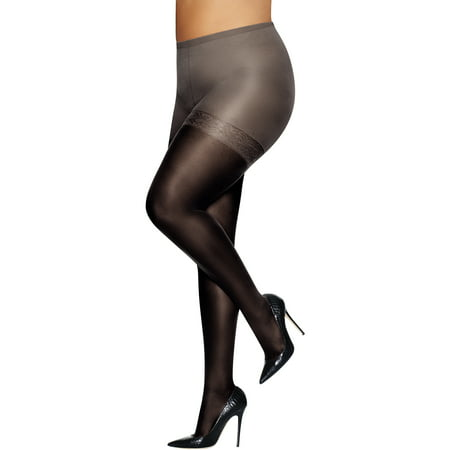Just My Size Pantyhose Shaper with Sheer Toe Nylon Spandex Sheer Pantyhose