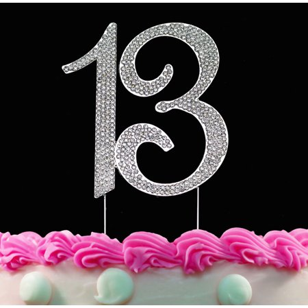 13th Birthday Cake Toppers Silver Bling Topper 13 Decorations