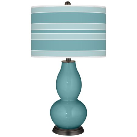 Color + Plus Reflecting Pool Bold Stripe Double Gourd Table Lamp Double Pool Table Light