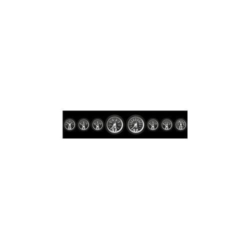 Aurora Instruments 1826 Assembled Speedometer Gauge - Carbon Fiber Series - White Flame Face, Black Modern Needles,