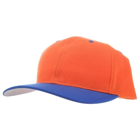 Enimay Baseball Hat Solid Plain & Two Tone Cap Curved Bill Adjustable Outdoor Sport Hat Two Tone Navy Orange One Size](Plain Baseball Caps)