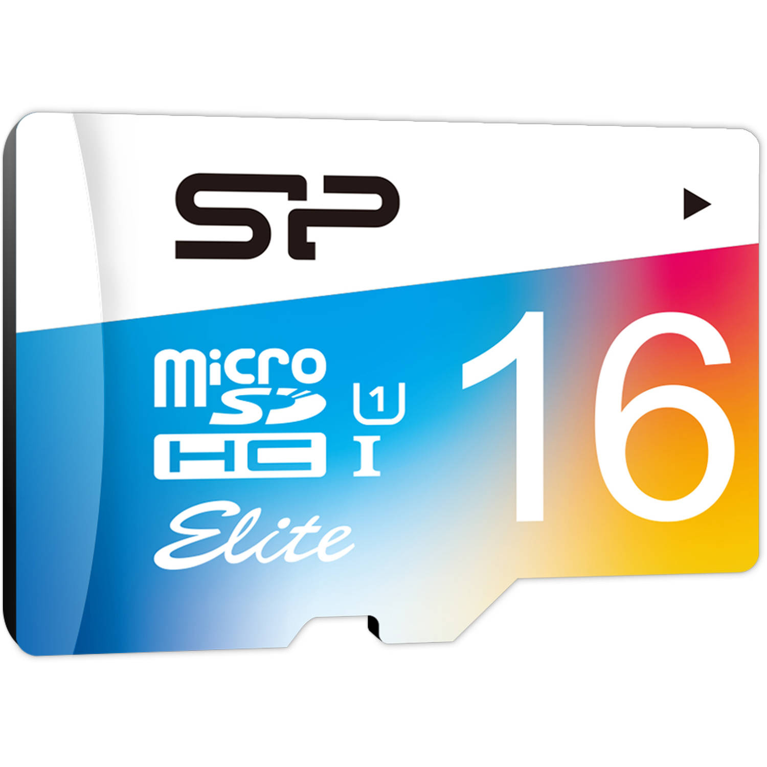 Silicon Power 16GB microSDHC UHS-1 Class 10 Elite Flash Memory Card with Adapter