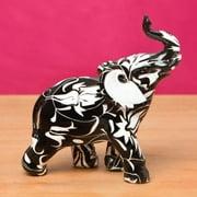 Fashioncraft Miniature Flourish Design Standing Elephant Accent Piece