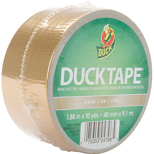 "Colored Duck Tape 1.88"" Wide 10 Yard Roll, Gold"