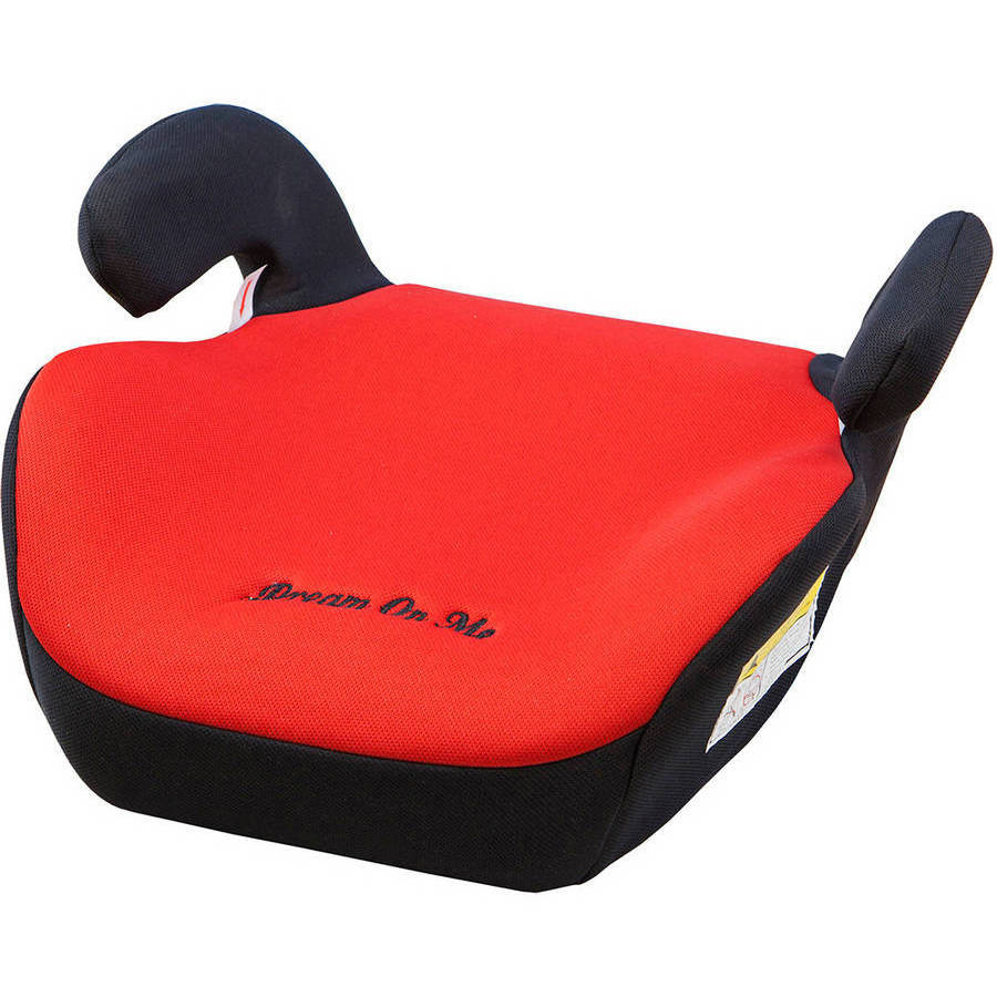 Dream On Me Coupe Backless Booster Car Seat, Red/Black