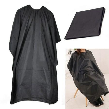Ediors Black Salon Hair Cut Hairdressing Hairdresser Barbers Cape Gown Cloth Waterproof