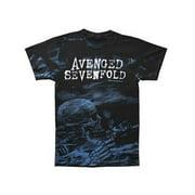 Avenged Sevenfold Men's  Skeleton Mist AO T-shirt Black