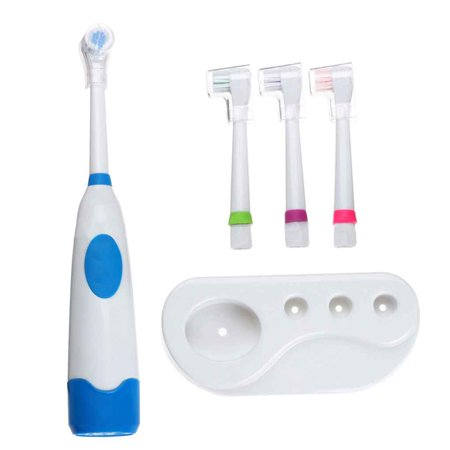 Clearance Rotating Electric Toothbrush with 4 Heads Oral Hygiene Baby Kids Toddler Tooth Brush Battery Operated for