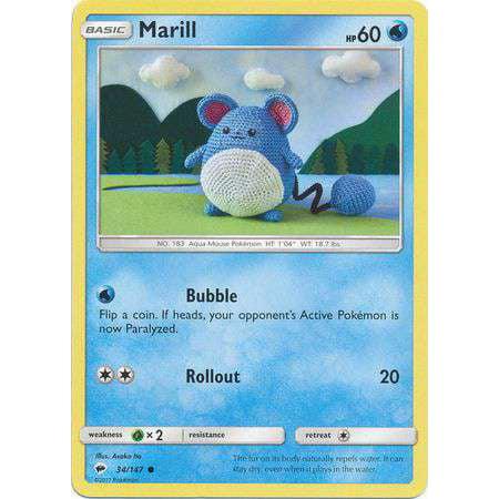 Ravelry: Marill (pokemon) pattern by Sabrina Somers   450x450