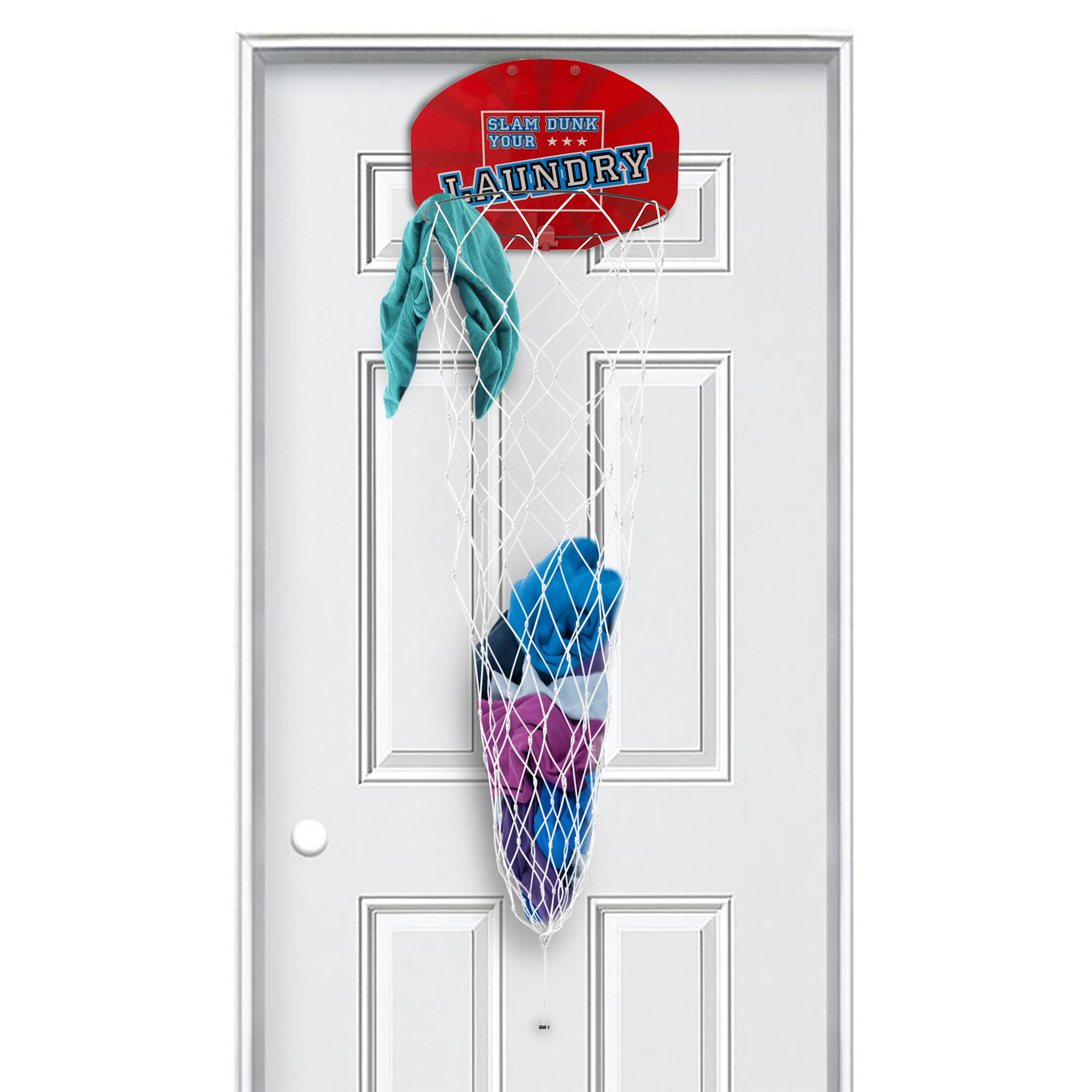Over The Door Dunk Your Laundry Hamper Basket