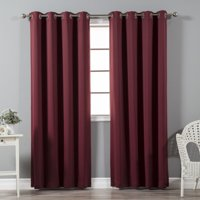 Product Image Quality Home Thermal Insulated Blackout Curtains Stainless Steel Nickel Grommet Top Beige 52