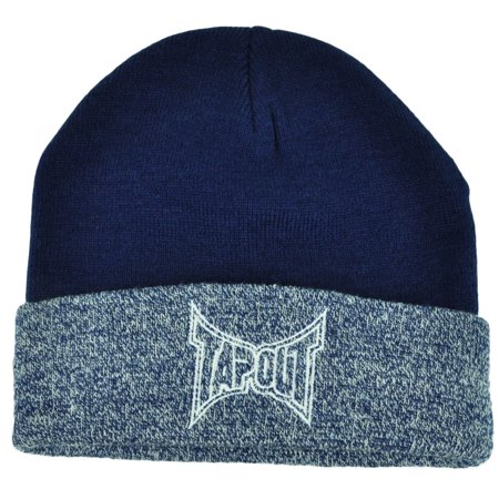 Ufo Cap - Tapout Cuffed Knit Beanie Toque Mixed Martial Arts Cage Fighting Blue MMA UFC