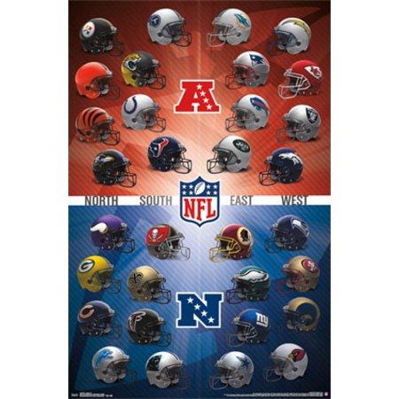 15 Poster Print - NFL - Helmets 15 Poster Print
