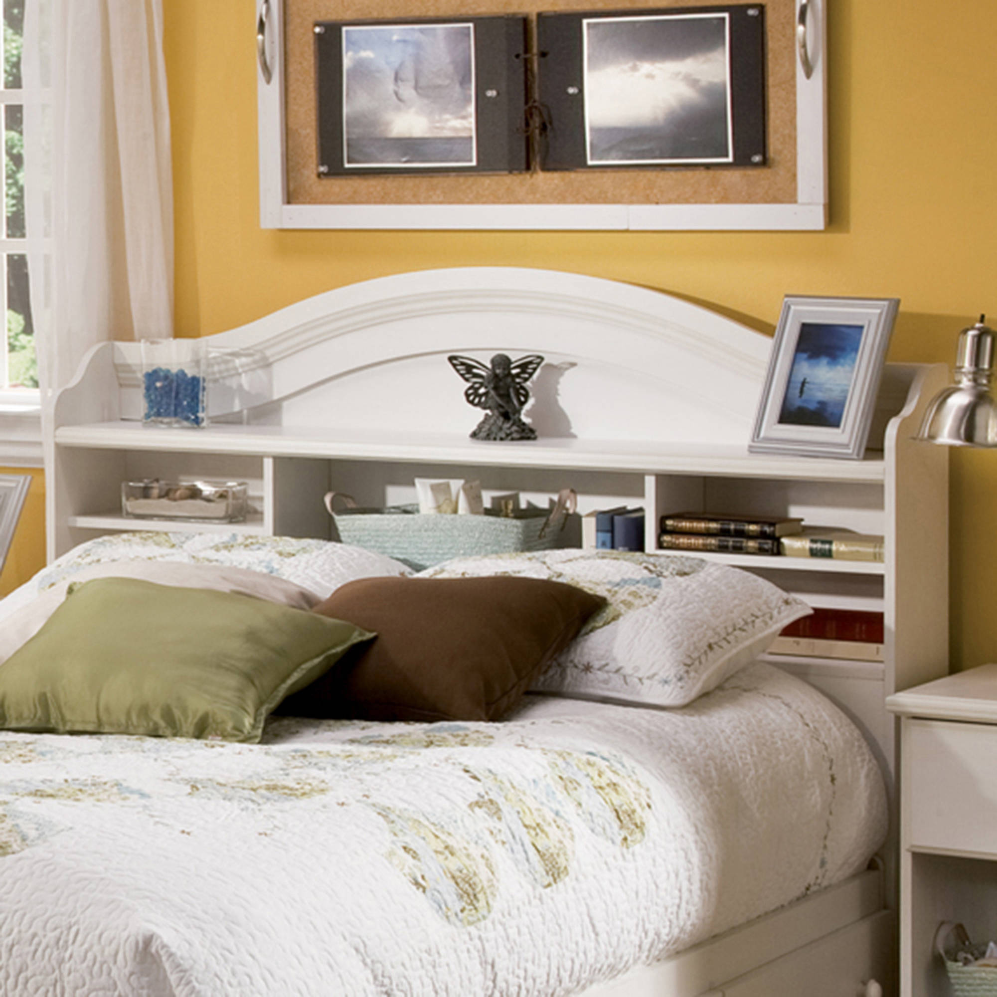 South Shore Summer Breeze Full Bookcase Headboard, Multiple Finishes