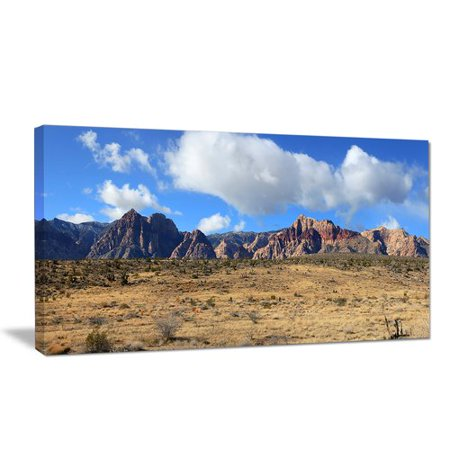 Design Art Red Rock Canyon Landscape Photographic Print on Wrapped Canvas