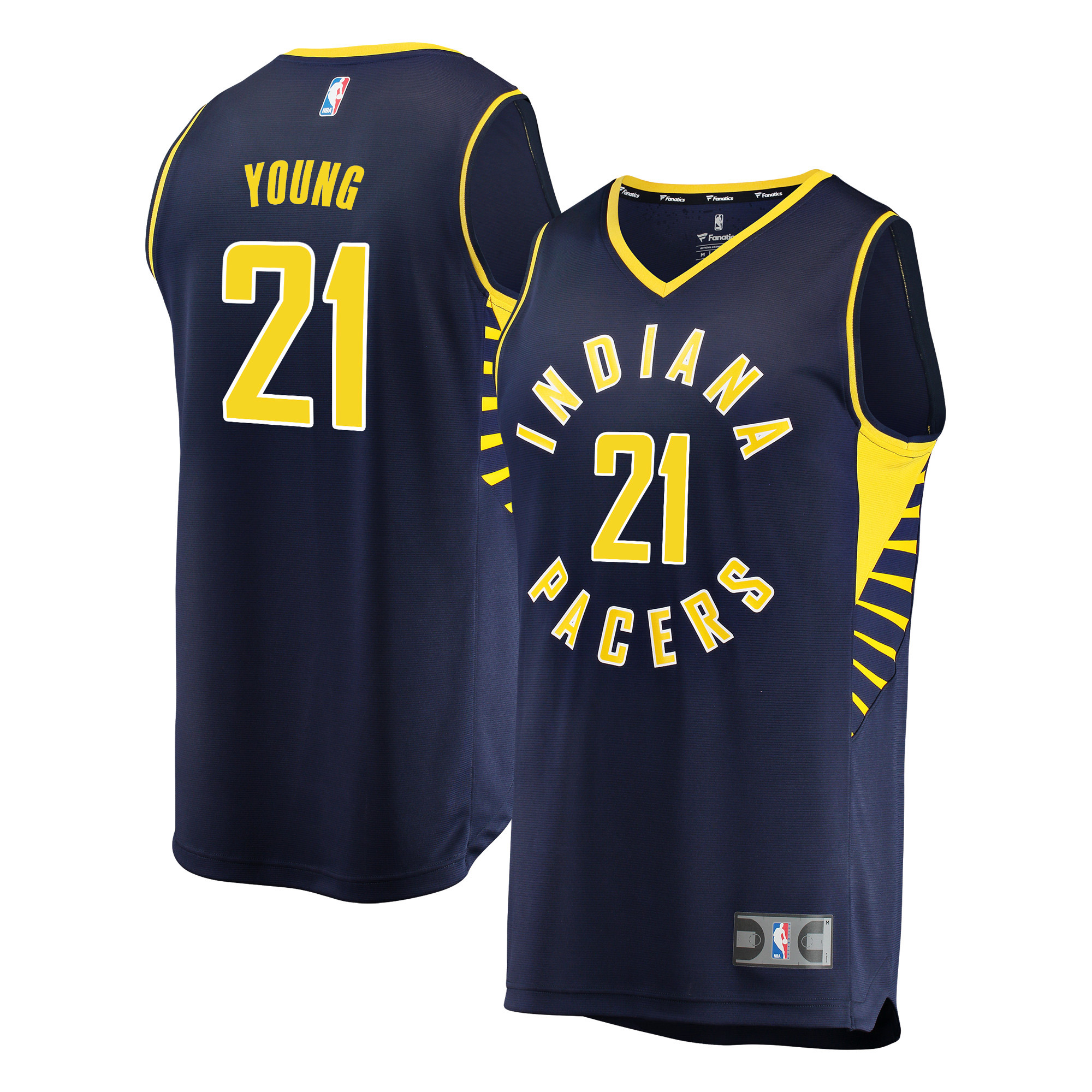 Indiana Pacers Thaddeus Young Fanatics Branded Youth Fast Break Player Jersey - Icon Edition - Navy
