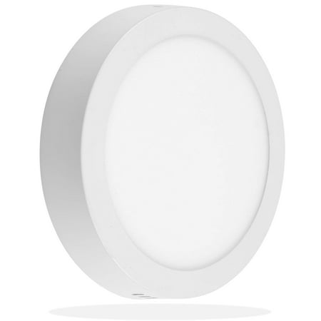 Led Panel Lights (LEEKI 8.5 inch 18W LED Panel Wall Ceiling Down Light - Round - Cool White 5000K - Non-Dimmable)