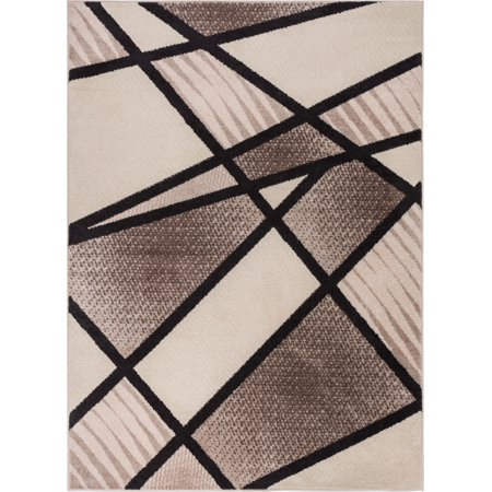 Well Woven Mystic Broadway Modern Abstract Brown 5'3