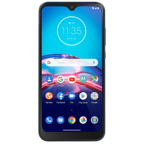 Straight Talk Motorola E, 32GB, Midnight Blue - Prepaid Smartphone