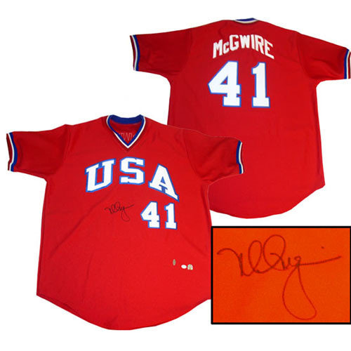 Steiner Sports Mark McGwire USA Jersey Autographed