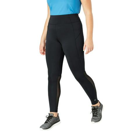 e3a8d97ee5d Fullbeauty Sport - Plus Size Mesh Panel Leggings By Fullbeauty Sport -  Walmart.com