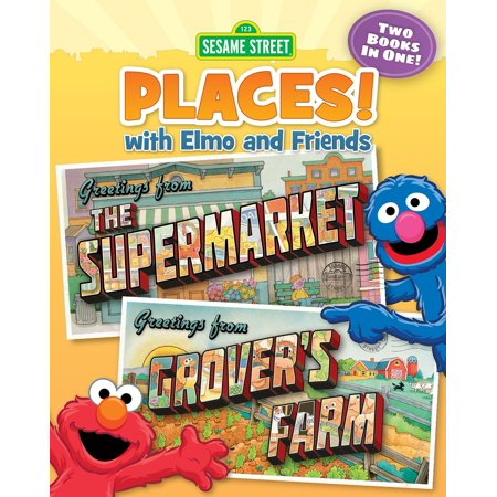 Sesame Street Places! The Supermarket and Grover's Farm (Sesame Street Series) - - Sesame Place Halloween Hours