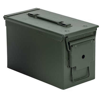 BLACKHAWK AMMO CAN 50 CALIBER STEEL OD