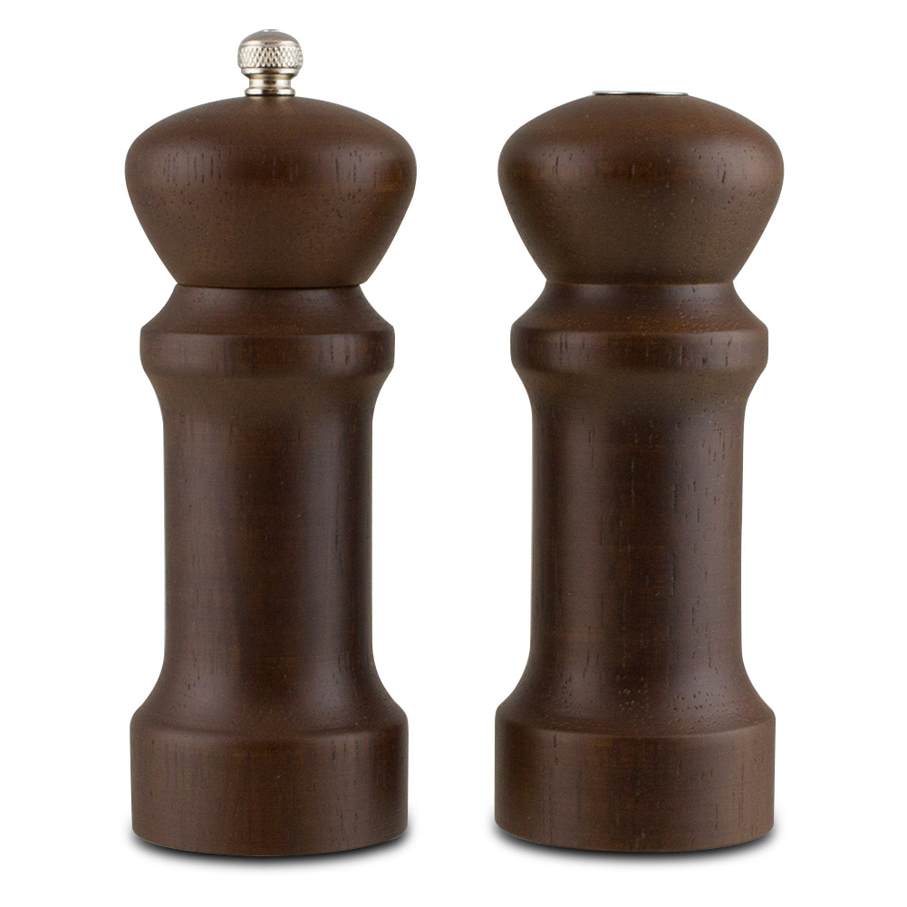 Click here to buy Trudeau Wood Pepper Mill & Salt Shaker Set by Trudeau.