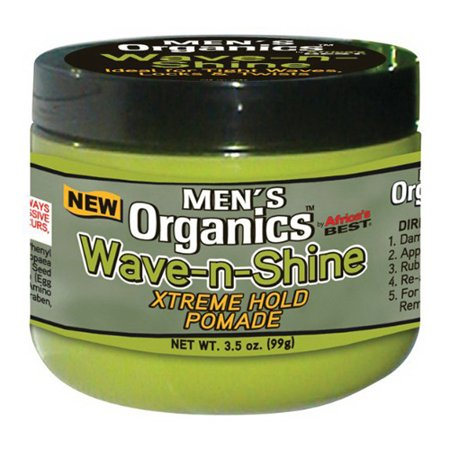 Africas Best Organics Mens Wave and Shine Hair Pomade, Extreme Hold, 3.5 (Best Du Rags For Waves)