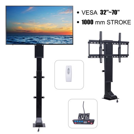 "Motorized TV Mount Lift for 32"" ~ 70"" TVs Height Adjustable Simple"
