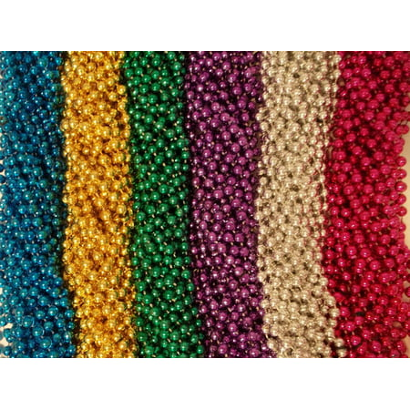 100 Asst 6 color Mardi Gras Gra Beads Necklaces Party Favors Huge Lot (Cheap Mardi Gras Beads In Bulk)