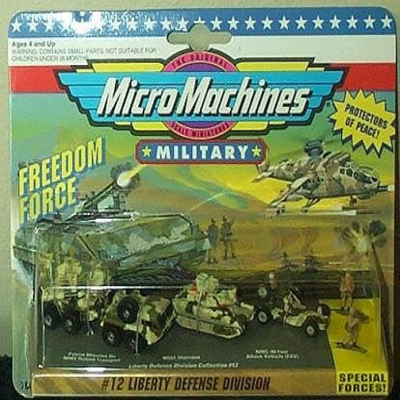 Liberty Defense Division Micro Machines Freedom Force Military Collection #12 by