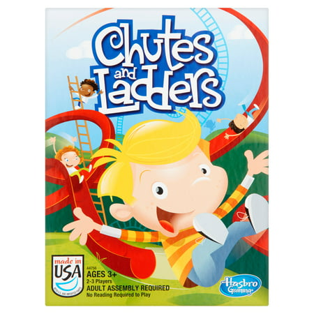 Chutes and Ladders Classic Family Board Game, Ages 3 and - Childrens Board Games