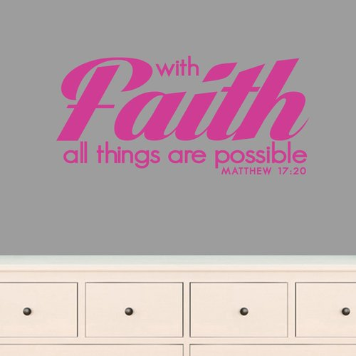 Winston Porter Archway With Faith All Things are Possible Wall Decal (Set of 3)