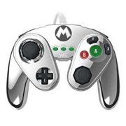 Wii U Wired Fight Pad Metal Mario
