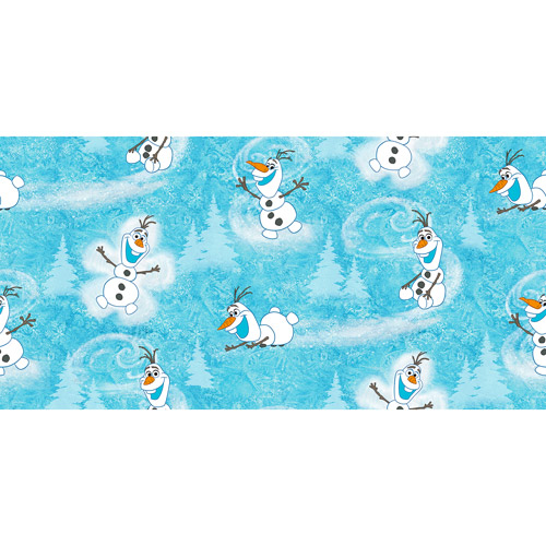 "Disney Frozen Olaf Winter Toss Fabric, 43/44"" Wide, Sold by the Yard"