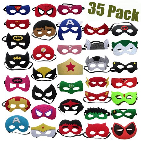 Party Supplies,35 pack Masks,Party Favors Half Masks for Children 35 pack for Children Kids Adults Party - Mask For Party