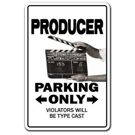 Producer Novelty Sign Parking Tv Film Maker Gift Gag Funny Movie Television Asst