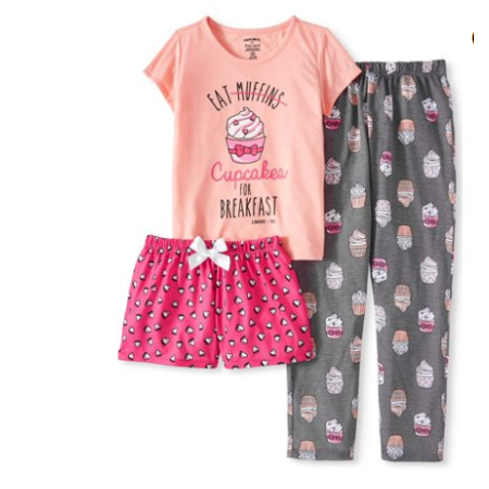Limited Too Girls 3 piece pajama sleep set - Banana In Pajamas Halloween